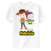 Camiseta Toy Story Woody E Buzz Personalizada