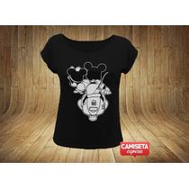 Camiseta Feminina Mickey E Minnie Lambretta Divertida