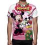 Camisa, Camiseta Disney Minnie - Estampa Total