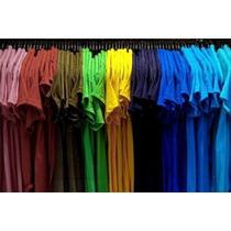 Kit 10 Camiseta 100%algodão Fio 30,! Em Cores P M G Gg