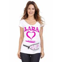 Bata/ Baby Look P/ Chá De Bebê Mãe Gestante - Personalizada