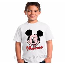 Camisa Personalizada - Mickey - Adulto E Infantil
