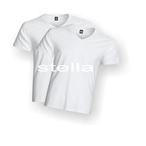 Camiseta Decote V Branca Lisa100% Poliéster Para Sublimação