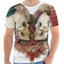 Camiseta Camisa Caveira Mexicana Florida Masculina E Feminin