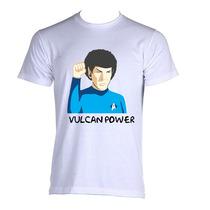 Camiseta Star Trek Jornada Nas Estrelas Spock Black B P A Gg