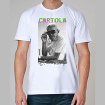 Camiseta Rock - Cartola, Adoniran Barbosa, Samba, Cavaquinho