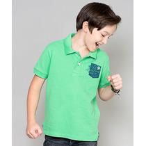 Polo Infantil Paco Kids - Verde Limão Claro