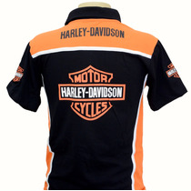 Camiseta Camisas Gola Polo Moto Harley Davidson