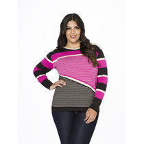 Blusa Tricô Feminina Modal - Plus Size - Gg Tamanho Grande