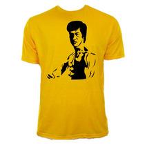 Camiseta Amarela Adulto Bruce Lee 07