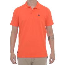 Camiseta Masculina Oakley Polo Essential Square Laranja