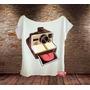 Camiseta Gola Canoa Polaroide Retrô Funny Câmera Fotografia