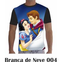 Camisa Camiseta Branca De Neve 004 Disney