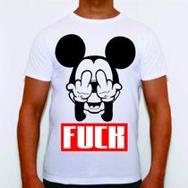 Camiseta Swag Personalizada Mickey 4:20 Diamante Sabotage