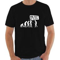 Camiseta Evolução Engraçadas Sátiras 100% Algodão