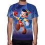 Camisa, Camiseta Disney Pinóquio - Estampa Total