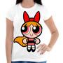 Camiseta Feminina - As Meninas Super Poderosas Florzinha