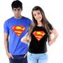 Camiseta Baby Look Super Man Camisa Super Heróis Feminina