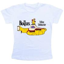 Camiseta Baby Look Feminina - The Beatles / Yellow Submarine