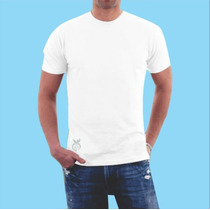 Camiseta Branca 100% Algodão Fio 30.1 Tamanho Especial Xgg