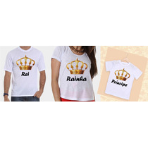 Camisetas Tal Pai, Tal Mãe E Tal Filho Coroa Dourada
