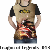 Camiseta Blusa Games League Of Legends Feminina Lol 013