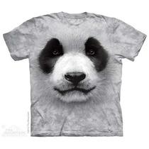 Camisa 3d Big Face Panda The Mountain Original