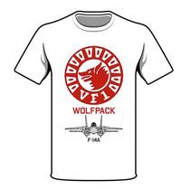 T-shirt Camiseta Aviação F-14 Tomcat Vf-1 Wolfpack Us Navy