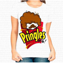 Camiseta Pronta Entrega Feminina Pringles Black Power Afro