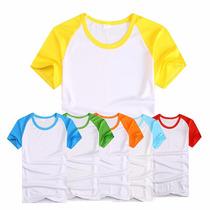 Camisetas Raglan Para Sublimação 100% Poliester