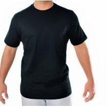 Camiseta Lisa Preta 100% Algodão - Fio 30.1 - Varejo\atacado