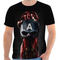 Camisa, Camiseta Homem De Ferro - Civil War, Herói