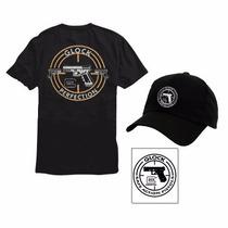 Kit Camiseta Glock + Boné Glock + Adesivo Glock