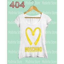 Camiseta Blusa Tshirt Feminina Moschino Marca Famosa Look