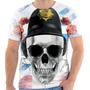 Camiseta Camisa Caveira Bandeira Inglaterra Skull England 02