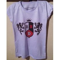 Camiseta Rebeldes Rbd Tradicional Ou Babylook