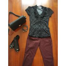 Blusinha Camisa Feminina Renda Preta P- Tenho Farm, Zara