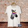 Camiseta Masculina Zebra Dj Techno Psy Trance Eletrônica