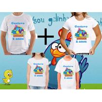 Kit 4 Camisetas Tema Galinha Pintadinha Aniversario