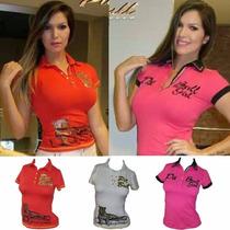 Pit Bull Polo Feminina Pronta Entrega 12923 / 13498 / 14134