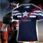 Camiseta Capitão América Marvel Super Herois Importada