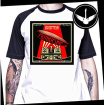 Camiseta Led Zeppelin Raglan Mothership Baby Look Rock Banda