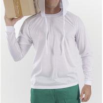 Camiseta Manga Longa - Malha Fio 30 Cardada 100% Algodão