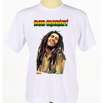 Camiseta Camisa Bob Marley Personalizada Manga Curta Adulto