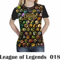 Camiseta Blusa Games League Of Legends Feminina Lol 018