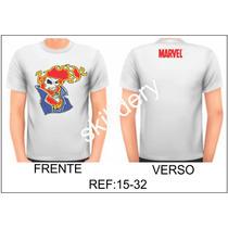 Camiseta Marvel Motoqueiro Fantasma Skilldery 15-32