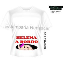 Camiseta Gravida Gestante Vários Modelos Personalize O Nome!