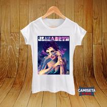 Blusa Feminina Baby Look Camisa Elizabeth Taylor Atriz Cine