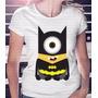 Camiseta Feminina Minion Batman Coleção Nova 2016