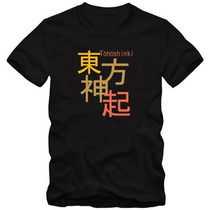 Tohoshinki Tvxq K-pop Camiseta Tradicional T-shirt Algodão
